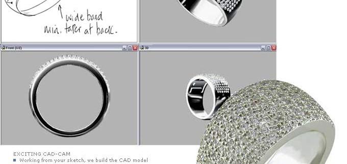 CAD/CAM design in jewellery manufacture?