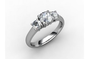 Trilogy 3 Stone Diamond Rings