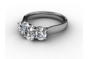 Oval-Cut Diamond Trilogy Rings