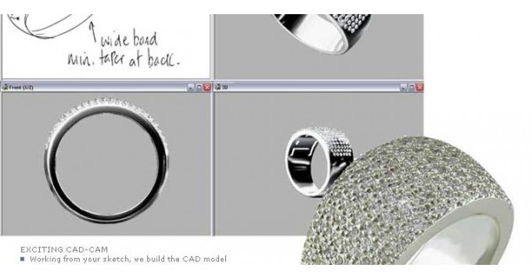 Cad Cam Design In Jewellery Manufacture