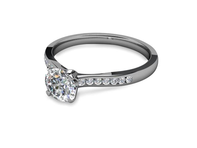 Engagement Rings Diamond Set Band