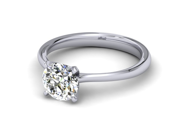 Palladium Diamond Solitaire Engagement Rings