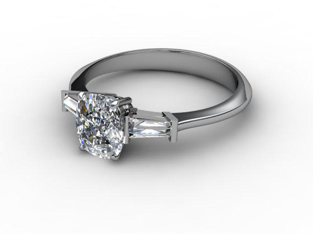 Palladium Engagement Rings With Diamond-Set Shoulders