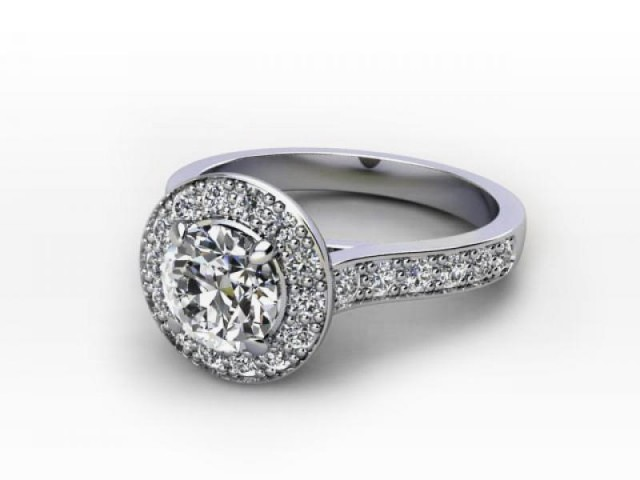 Palladium Halo Engagement Rings