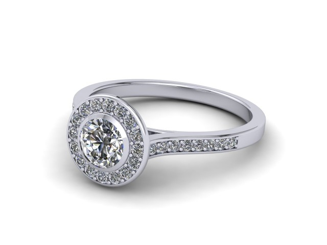 Platinum Coloured Stone Engagement Rings