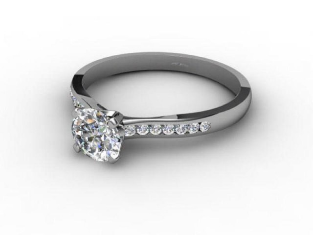 Platinum Engagement Rings Diamond Set Band