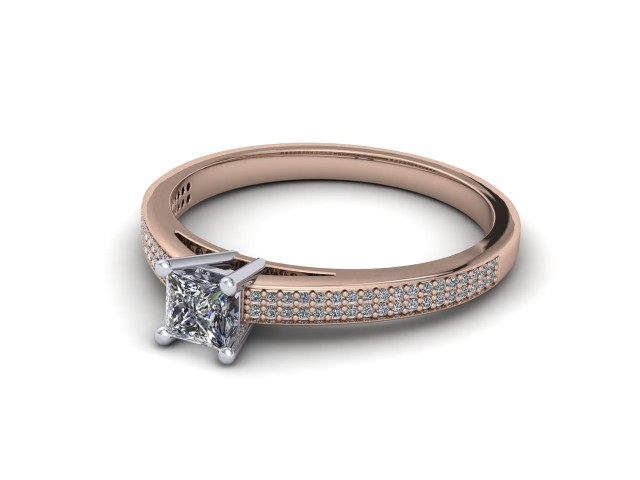 Rose Gold Budget Diamond Engagement Rings
