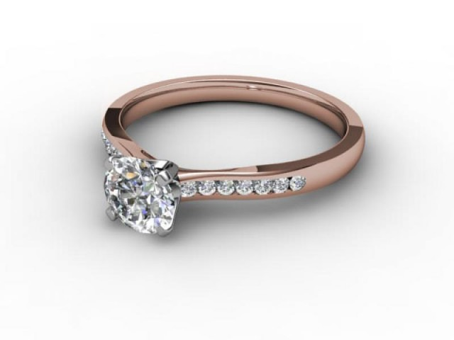 Rose Gold Engagement Rings Diamond Set Band