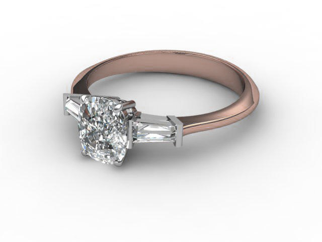 Rose Gold Engagement Rings With Diamond-Set Shoulders