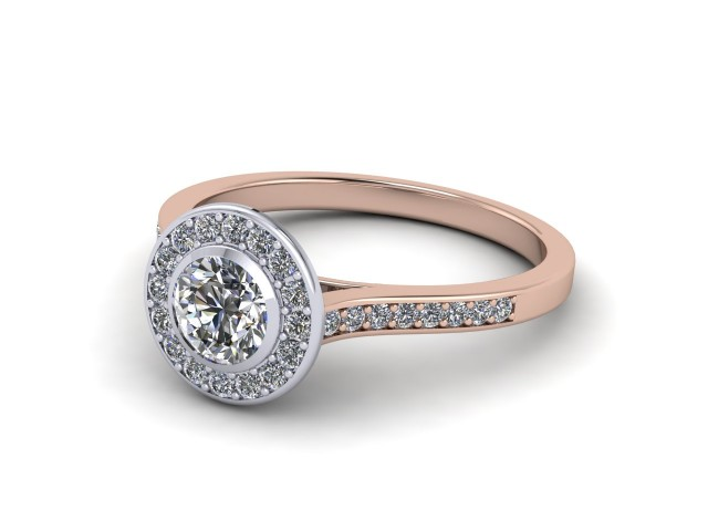 Rose Gold Halo Cluster Engagement Rings