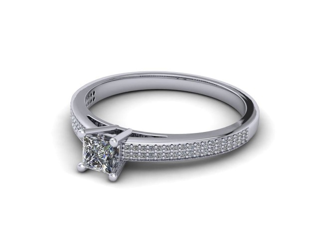 White Gold Budget Diamond Engagement Rings