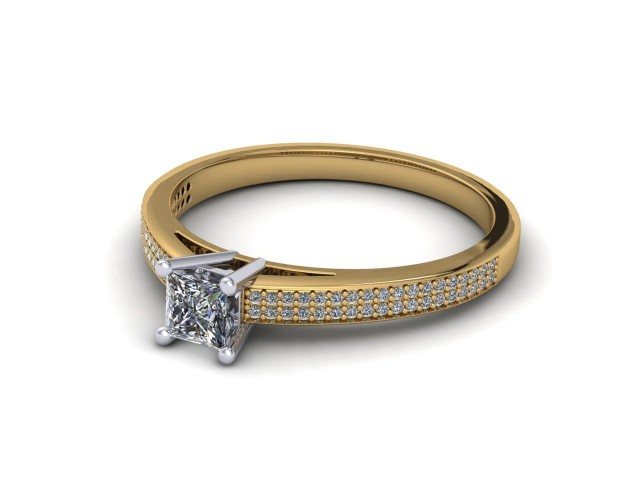 Yellow Gold Budget Diamond Engagement Rings