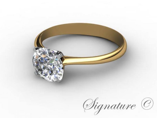 Yellow Gold Diamond Solitaire Engagement Rings