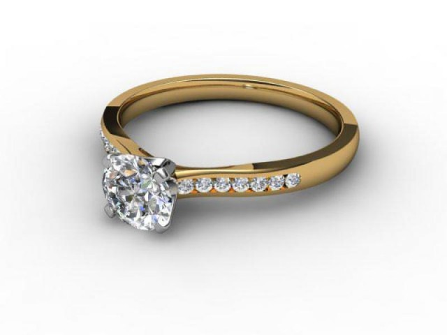 Yellow Gold Engagement Rings Diamond Set Band