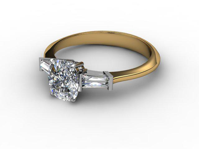 Yellow Gold Engagement Rings With Diamond-Set Shoulders