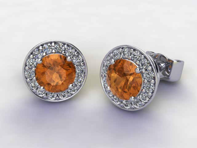 Golden Citrine and Diamond
