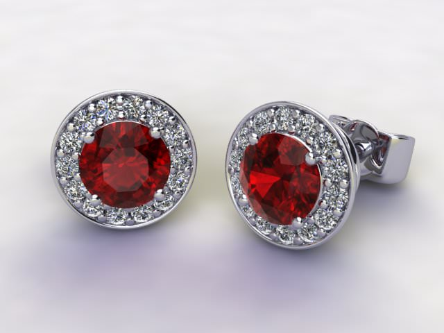 Mozambique Garnet and Diamond