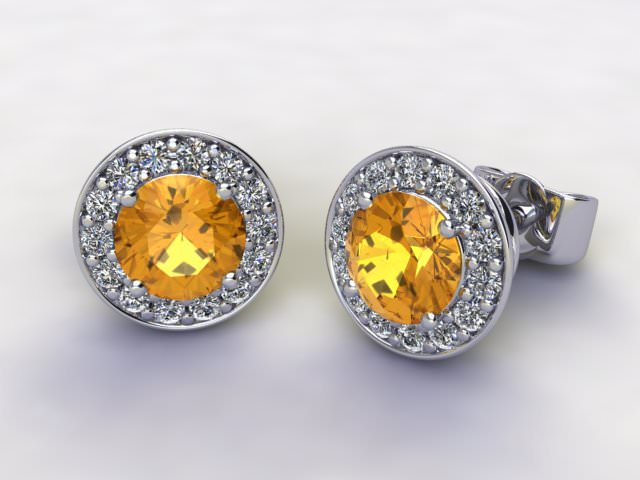 Yellow Sapphire and Diamond