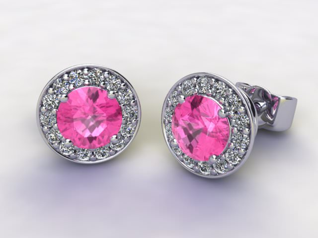 Pink Tourmaline and Diamond