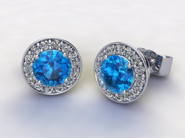 Sky Blue Topaz and Diamond