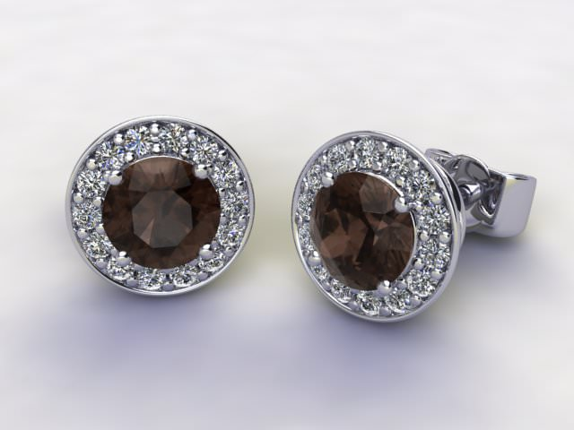 Chocolate Quartz and Diamond