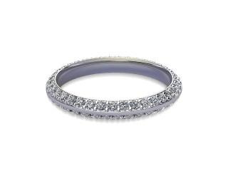 Full Diamond Eternity Ring in 9ct. White Gold: 2.7mm. wide with Round Milgrain-set Diamonds-88-46042.27