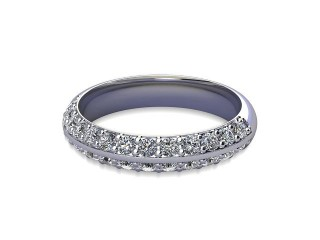 Half-Set Diamond Eternity Ring in 9ct. White Gold: 4.0mm. wide with Round Milgrain-set Diamonds-88-46043.40