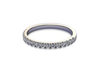 Half-Set Diamond Wedding Ring in 9ct. White Gold: 1.9mm. wide with Round Split Claw Set Diamonds-W88-46045.19