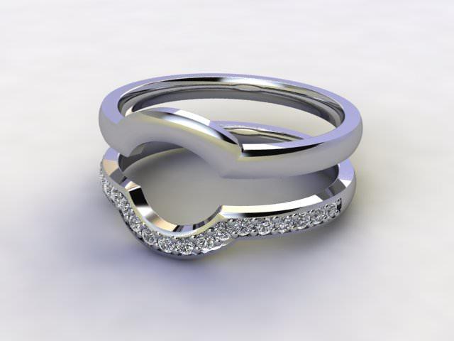 Diamonds 0.19cts. in Platinum