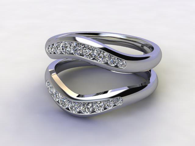 Diamonds 0.38cts. in Platinum