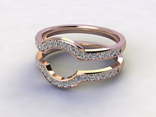 Diamonds 0.38cts. in 18ct Rose Gold-77-041409