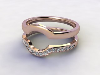Diamonds 0.19cts. in 18ct Rose Gold-77-041410