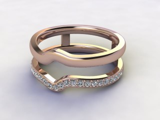 Diamonds 0.18cts. in 18ct Rose Gold-77-041412
