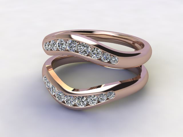 Diamonds 0.38cts. in 18ct Rose Gold