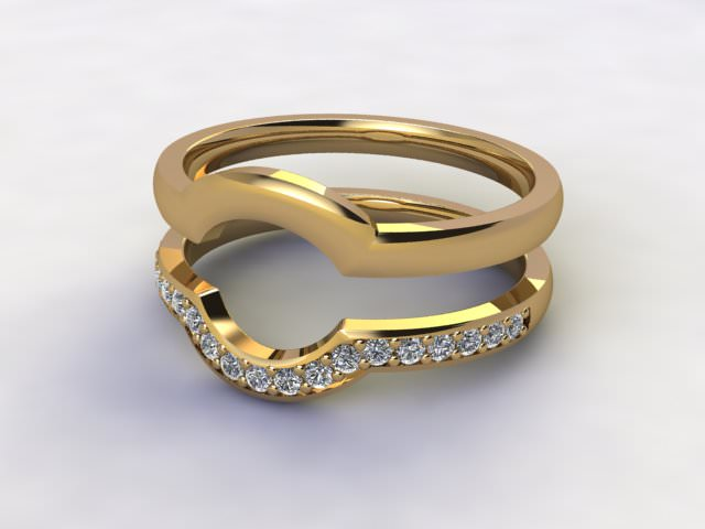 Diamonds 0.19cts. in 18ct Yellow Gold