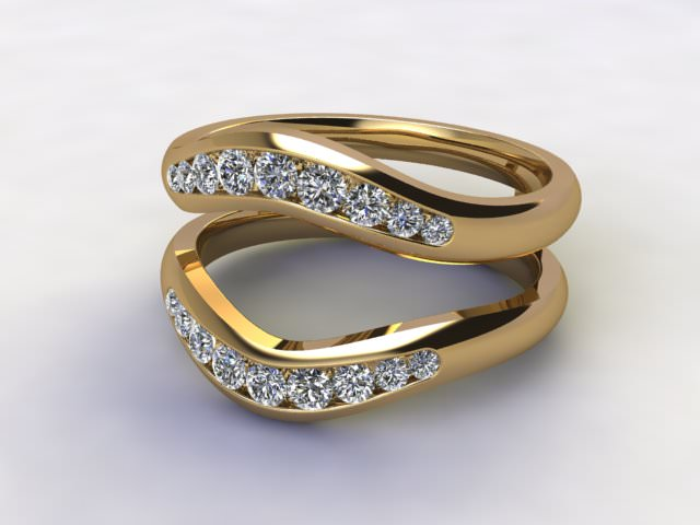 Diamonds 0.38cts. in 18ct Yellow Gold