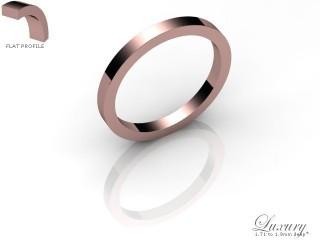 Women's 2.0mm. Luxury Flat Wedding Ring: Hallmarked 18ct. Rose Gold-18RGPP-2.0FHL