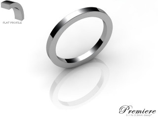 Women's 2.0mm. Premiere Flat Wedding Ring: Hallmarked Palladium (950)-PALLPP-2.0FXL