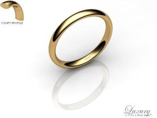 Women's 2.5mm. Luxury Court Wedding Ring: Hallmarked 9ct. Yellow Gold-09YGPP-2.5CHL