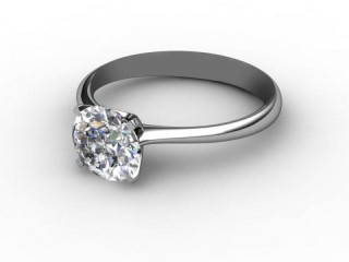 Certificated Round Diamond Solitaire Engagement Ring in Platinum-01-0100-0001