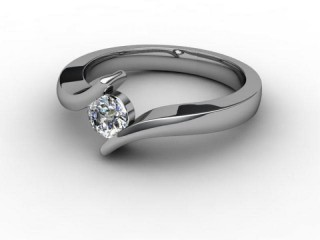 Certificated Round Diamond Solitaire Engagement Ring in Platinum-01-0100-1909