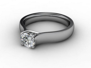 Certificated Round Diamond Solitaire Engagement Ring in Platinum-01-0100-1915