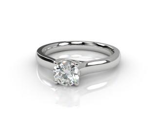 Certificated Round Diamond Solitaire Engagement Ring in Platinum