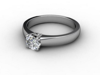 Certificated Round Diamond Solitaire Engagement Ring in Platinum-01-0100-1923