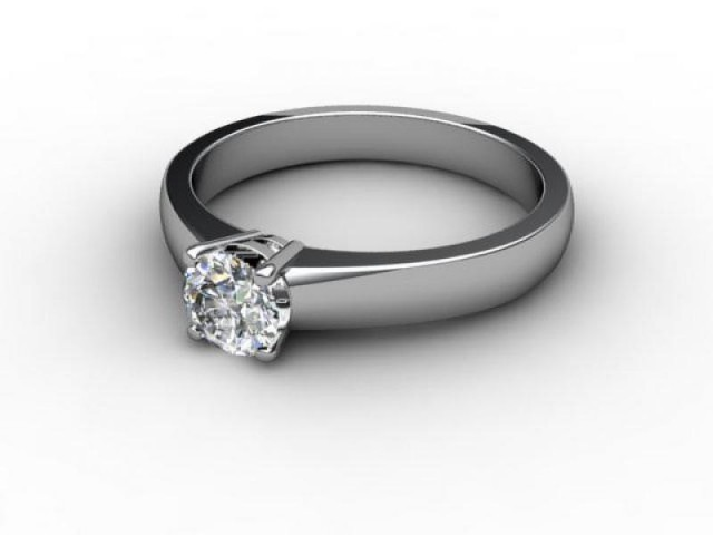 Certificated Round Diamond Solitaire Engagement Ring in Platinum - Main Picture