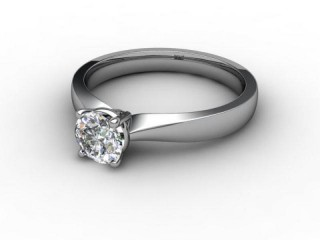 Certificated Round Diamond Solitaire Engagement Ring in Platinum-01-0100-1939