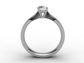 Certificated Round Diamond Solitaire Engagement Ring in Platinum - 3