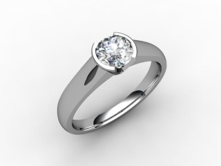 Certificated Round Diamond Solitaire Engagement Ring in Platinum - 15