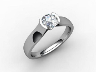 Certificated Round Diamond Solitaire Engagement Ring in Platinum-01-0100-2229