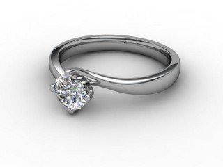 Certificated Round Diamond Solitaire Engagement Ring in Platinum-01-0100-2231